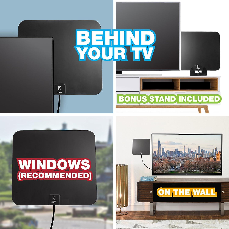 Amazon com: (Updated 2019) Digital HDTV Antenna - Amplified High