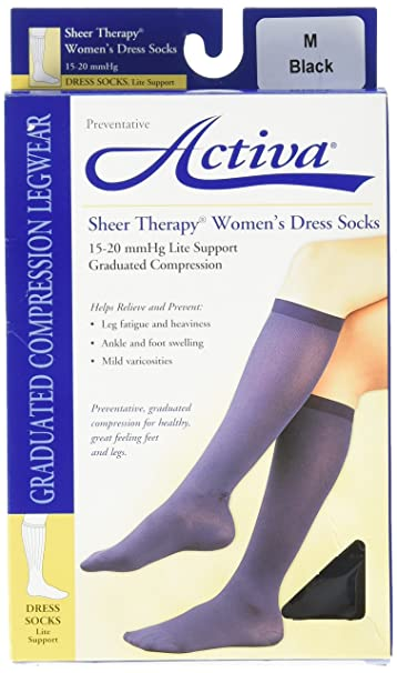 599a706fac Image Unavailable. Image not available for. Color: Activa 15-20 mmHg Sheer  Therapy Women's Socks ...