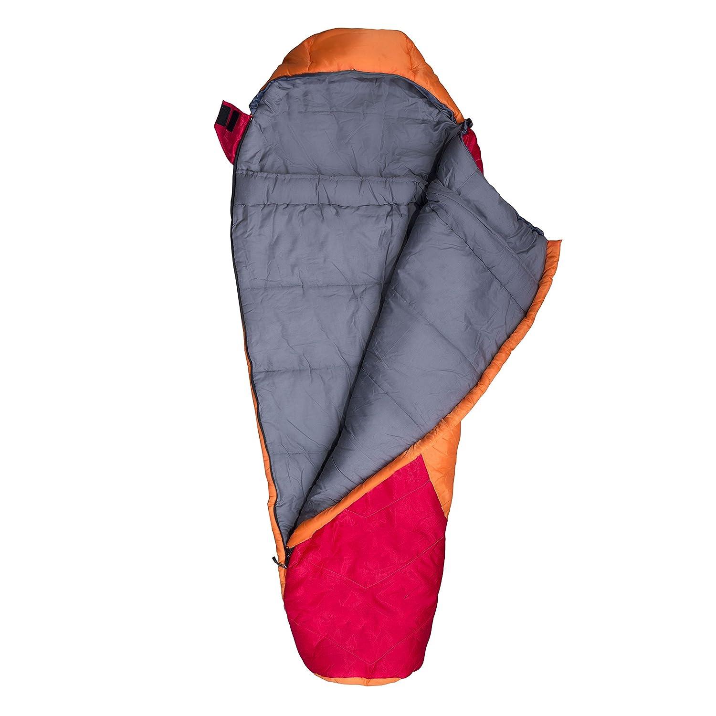 Explorer 4635 Starlite Sac de couchage junior 175 x 70 x 45 cm rouge//orange