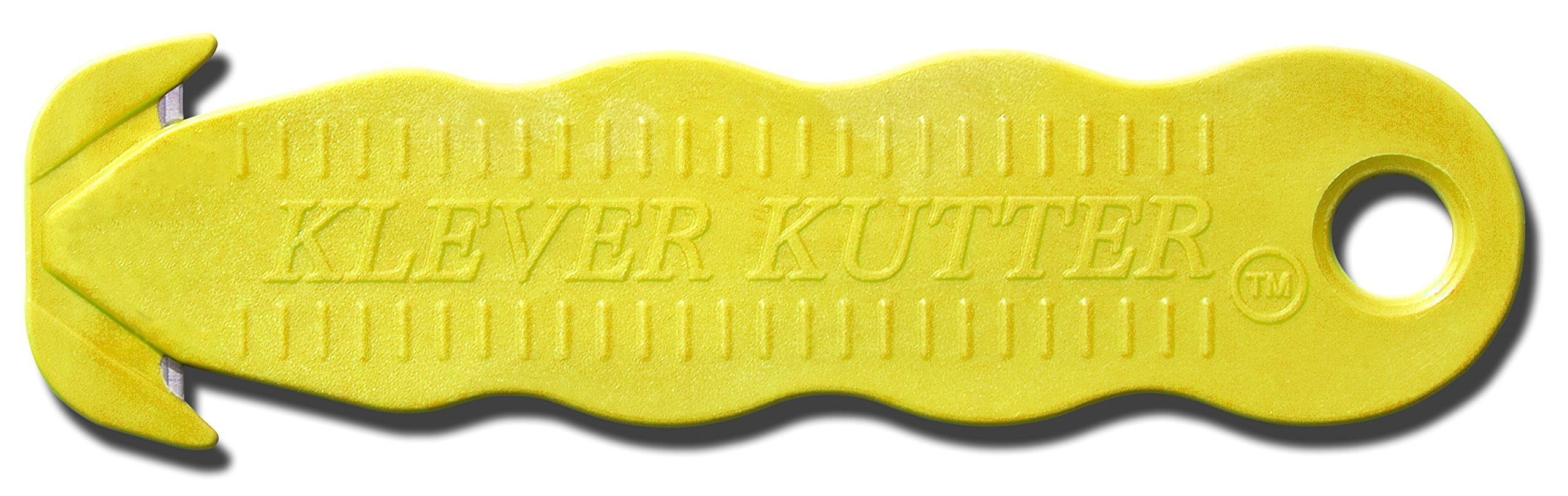 Klever Innovations KCJ-1Y Safety Cutter, Advanced Plastic Polymers, 4-5/8'', Yellow (Pack of 10) by Klever Innovations