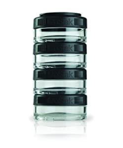 BlenderBottle C00329 GO STAK BLENDER BOTTLE, 40cc 4-Pak, Black