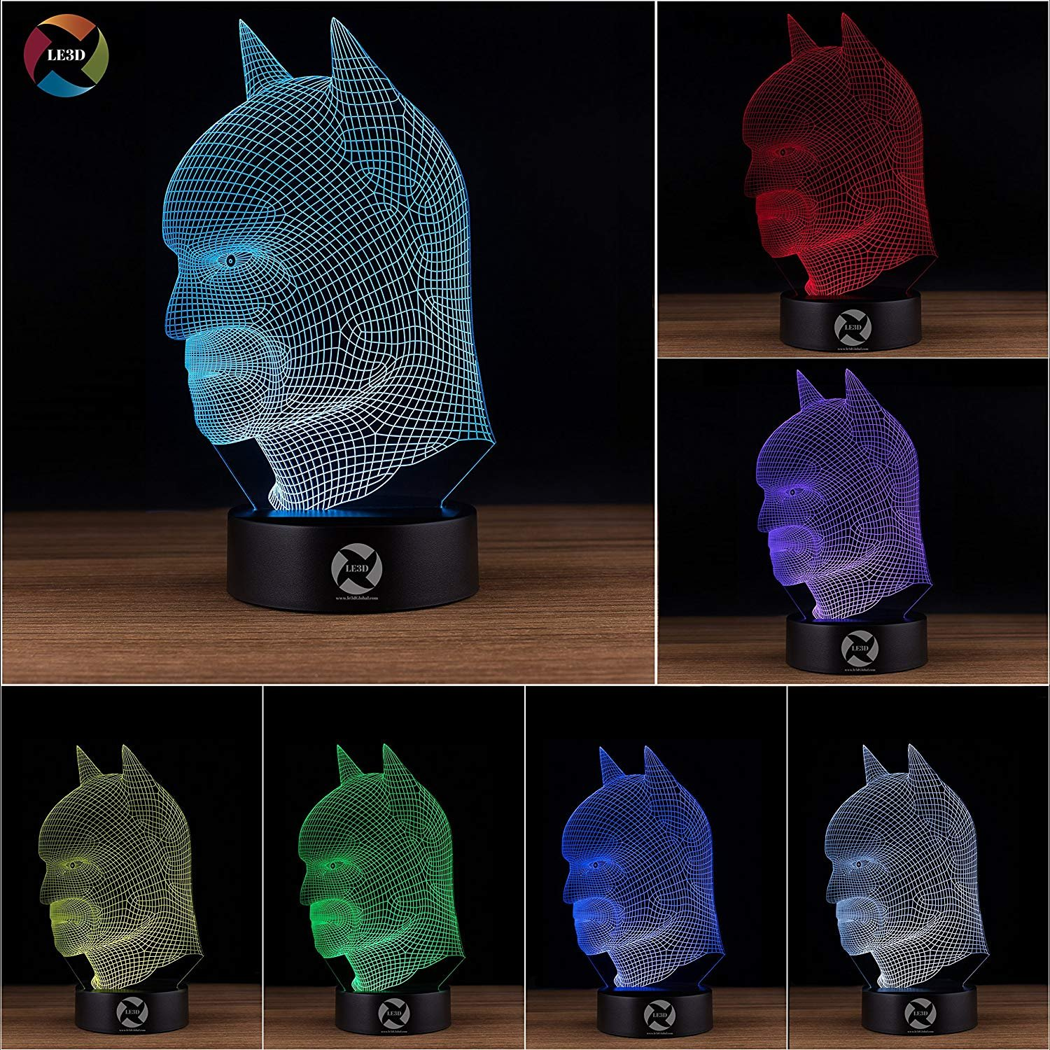 3D ナイトライト B0731JNDRT 10609 Batman (head) Batman (head)