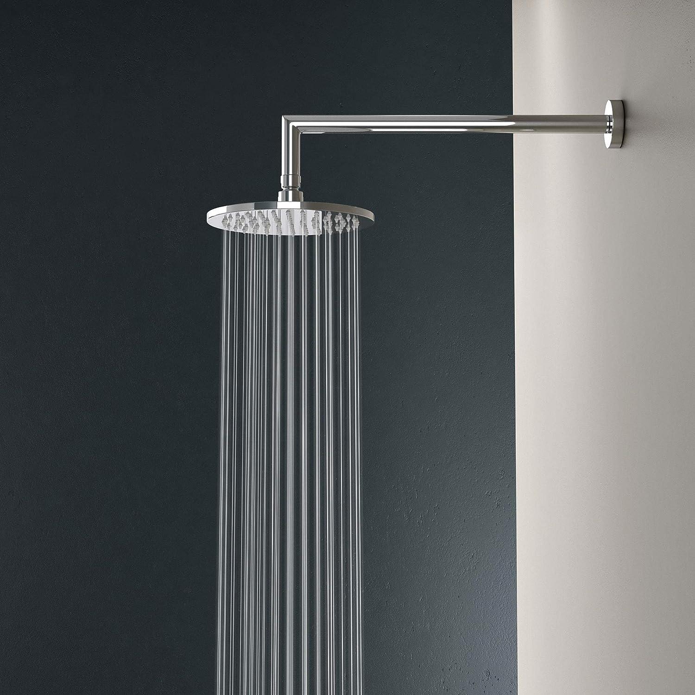 Colonne de douche encastr/é chrom/é Sogood avec mitigeur douchette et pomme haute ronde 40cm