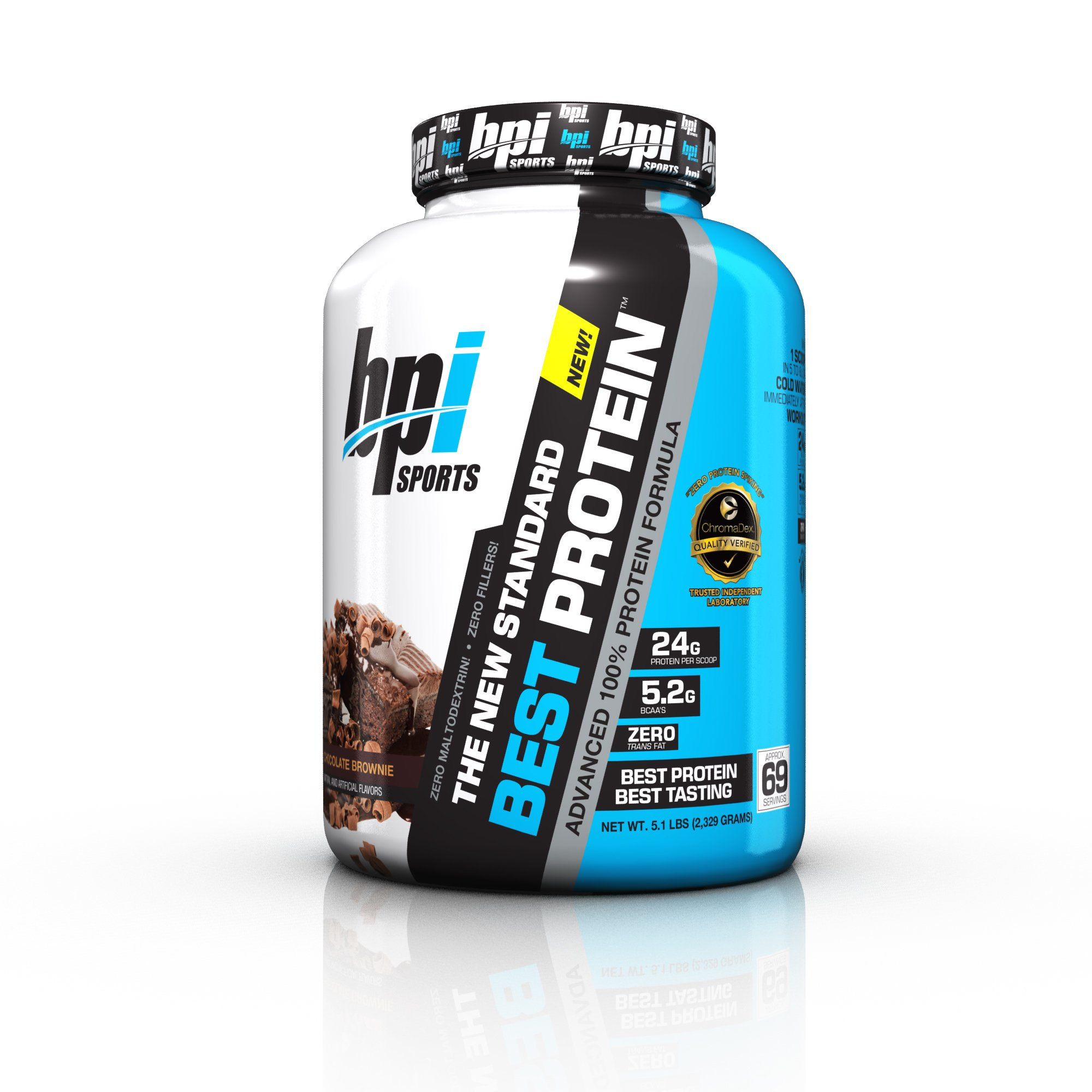 BPI Sports Best Protein Advanced 100% Protein Formula, Chocolate Brownie, 5.1 Pound