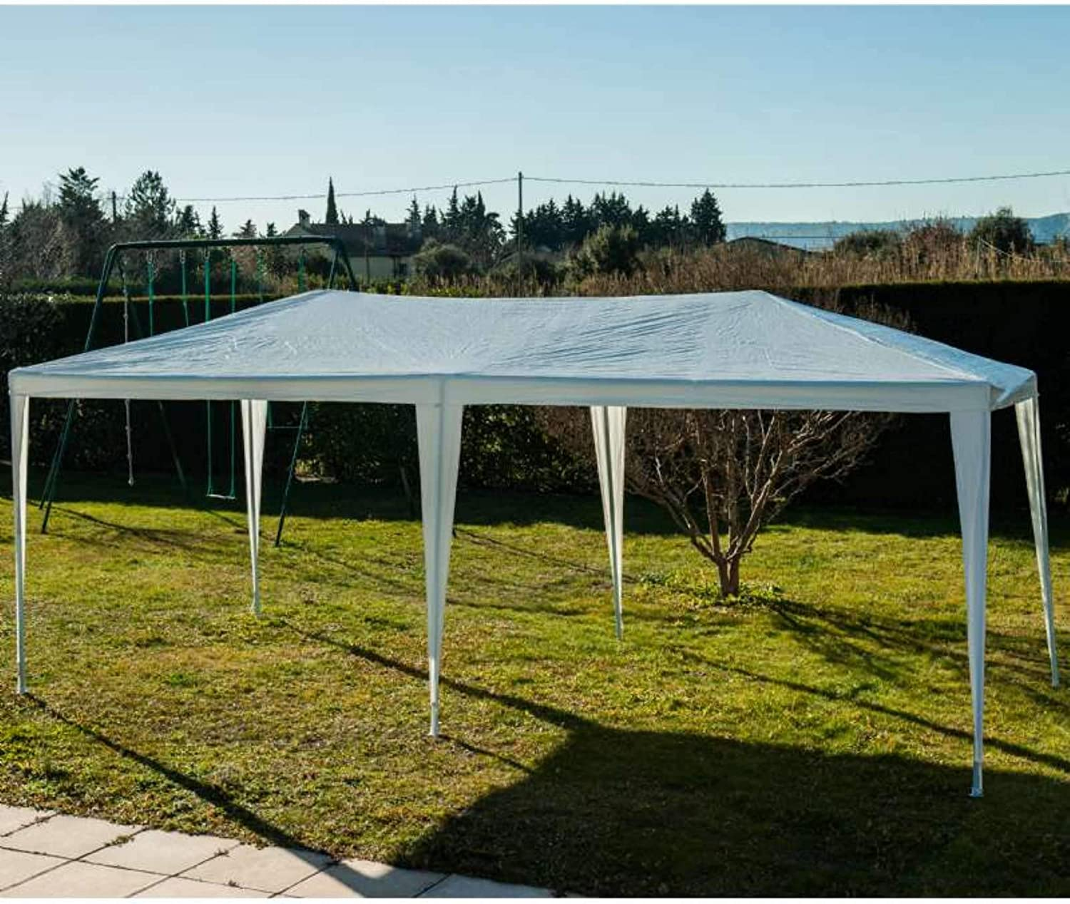 Provence Outillage Carpa de jardín 3 x 6 m, Color Blanco: Amazon ...