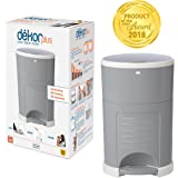 Dekor Plus Hands-Free Diaper Pail | Gray | Easiest to Use | Just Step – Drop – Done | Doesn't Absorb Odors | 20 Second Bag Change | Most Economical Refill System |Great for Cloth Diapers