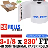 Amazon com : NCR 856348 Thermal Receipt Paper, 3-1/8