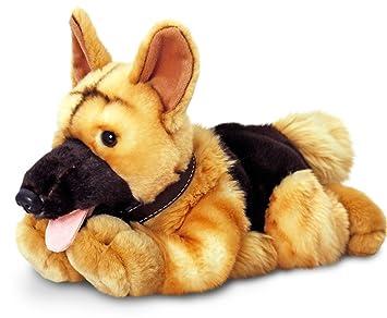 Keel Toys peluche perro pastor alemán, peluche tumbado aprox. 30 cm