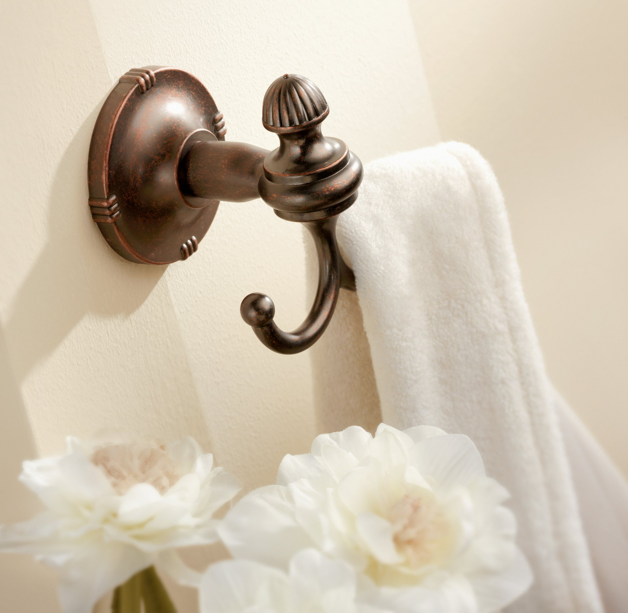 Moen DN0803ORB Gilcrest Double Robe Hook, Oil Rubbed Bronze