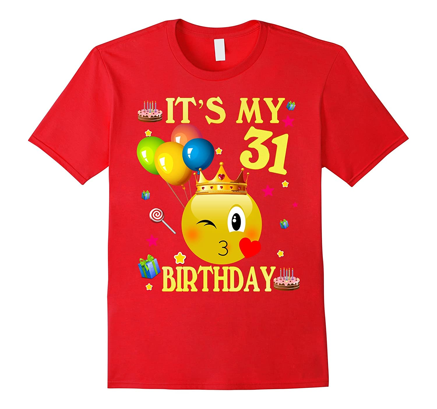 Its My 31st Birthday Shirt 31 Years Old Gift Ah One Ahmyshirt