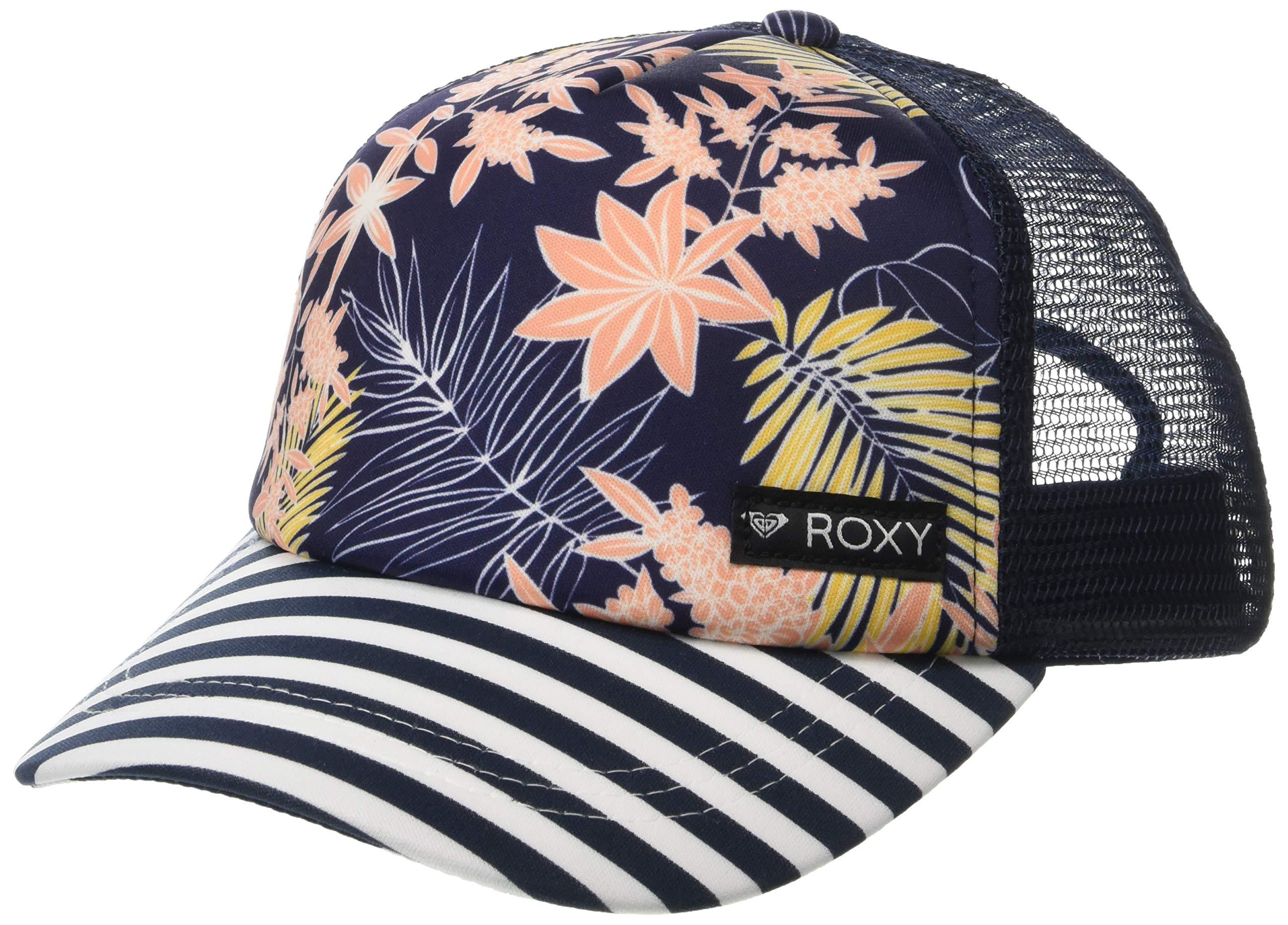 Roxy Girls Just Ok Trucker Hat, Medium Blue Full Floral Big Southwest, 1SZ