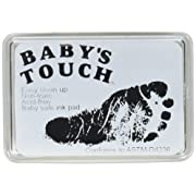 Baby's Touch Baby Safe Reusable Hand & Foot Print Ink Pads (Black)
