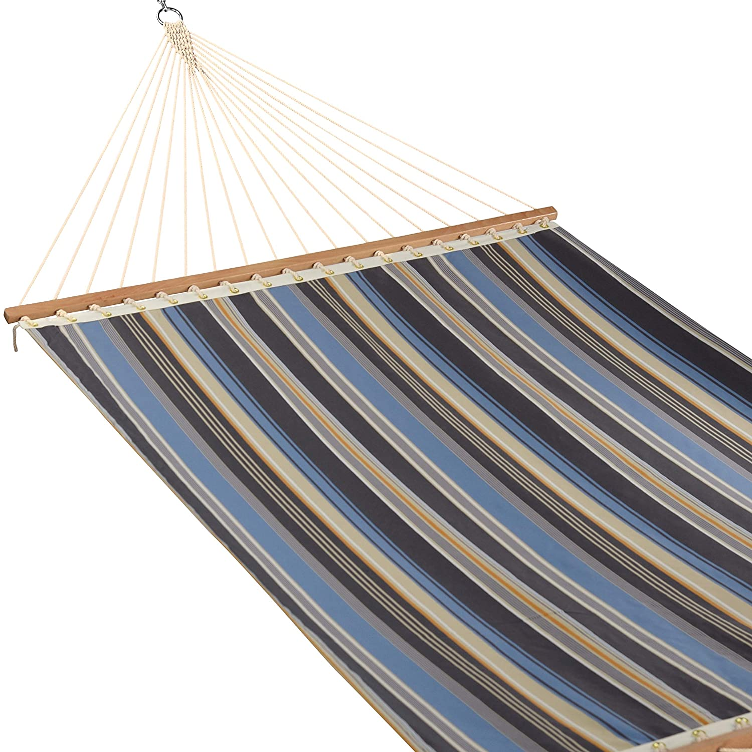 Caribbean Hammocks – Single Layer Olefin Hammock Grey Blue