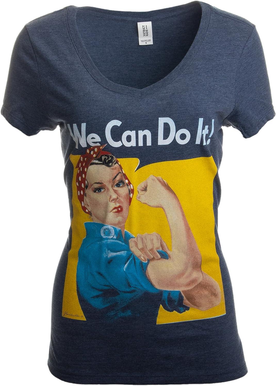 Women/'s Tshirt Motivational Rosie the Riveter Shirt American Apparel Crew Neck Tshirt We Can Do it T-shirt Screen Print Inspiratoinal