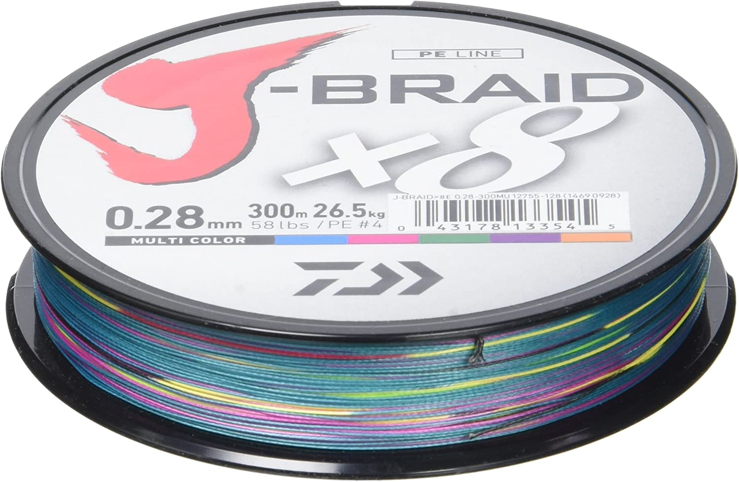 Daiwa J-trenza 8 trenza 300 M Multi Colour - hilo de pesca: Amazon ...