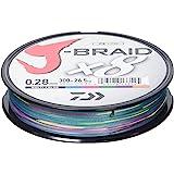 Daiwa J-Braid 8 Braid 300m multicolore - Ligne de pêche tressée