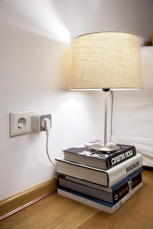 directamente compatible con Echo Plus y Echo Show Zigbee enchufe conmutable Ledvance Smart+ Outdoor Plug 2/ª Gen. para el control de la luz en su Smart Home