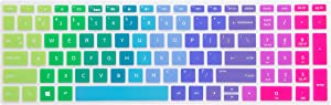 "LEZE - Ultra Thin Keyboard Cover for 15.6"" HP Pavilion X360 15-BR,Pavilion 15-CC 15-CH 15-CD 15-CB 15-BS 17-BS 17M-AE Serie Touch-Screen Laptop - Rainbow"
