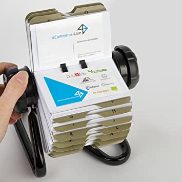 Oramics rotary card file or rolodex business card carousel for 400 oramics rotary card file or rolodex business card carousel for 400 business cards including reheart Image collections