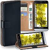 MoEx BlackBerry Z30 Hülle Schwarz mit Karten-Fach [OneFlow 360° Book Klapp-Hülle] Handytasche Kunst-Leder Handyhülle für BlackBerry Z30 Case Flip Cover Schutzhülle Tasche