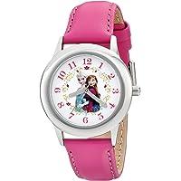 Disney Girls' Anna & Elsa Stainless Steel Pink Tween Watch
