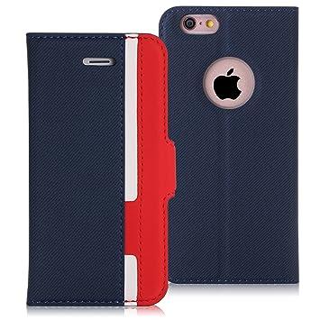 cac56983a3 FYY スマホケース iPhone6sケース iPhone6ケース 薄型 軽量 手帳型 保護ケース カードポケット付き スタンド