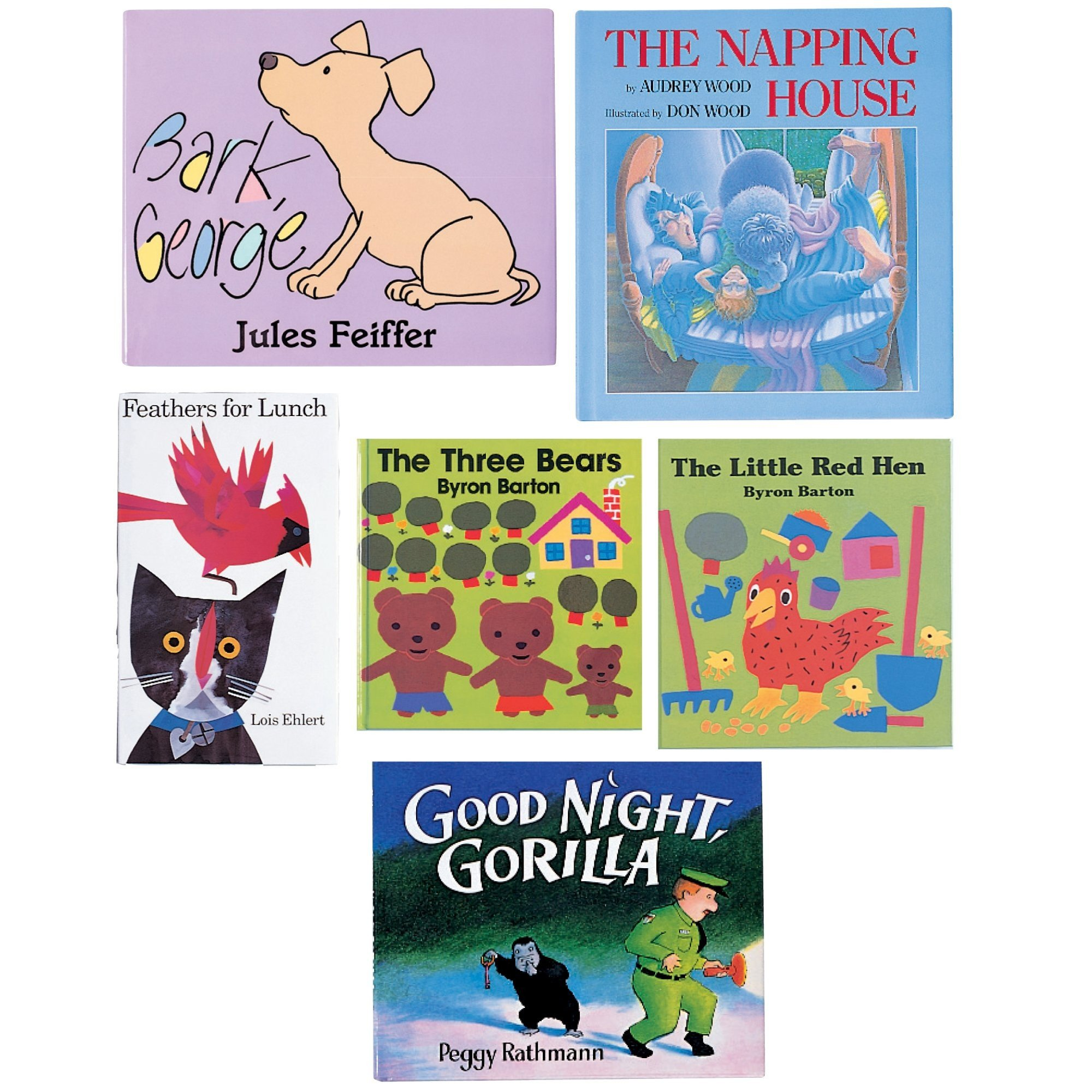 Constructive Playthings BOK-105 Classroom Essentials, Classics Hardcover Books, Grade: Kindergarten to 1, Set of 6
