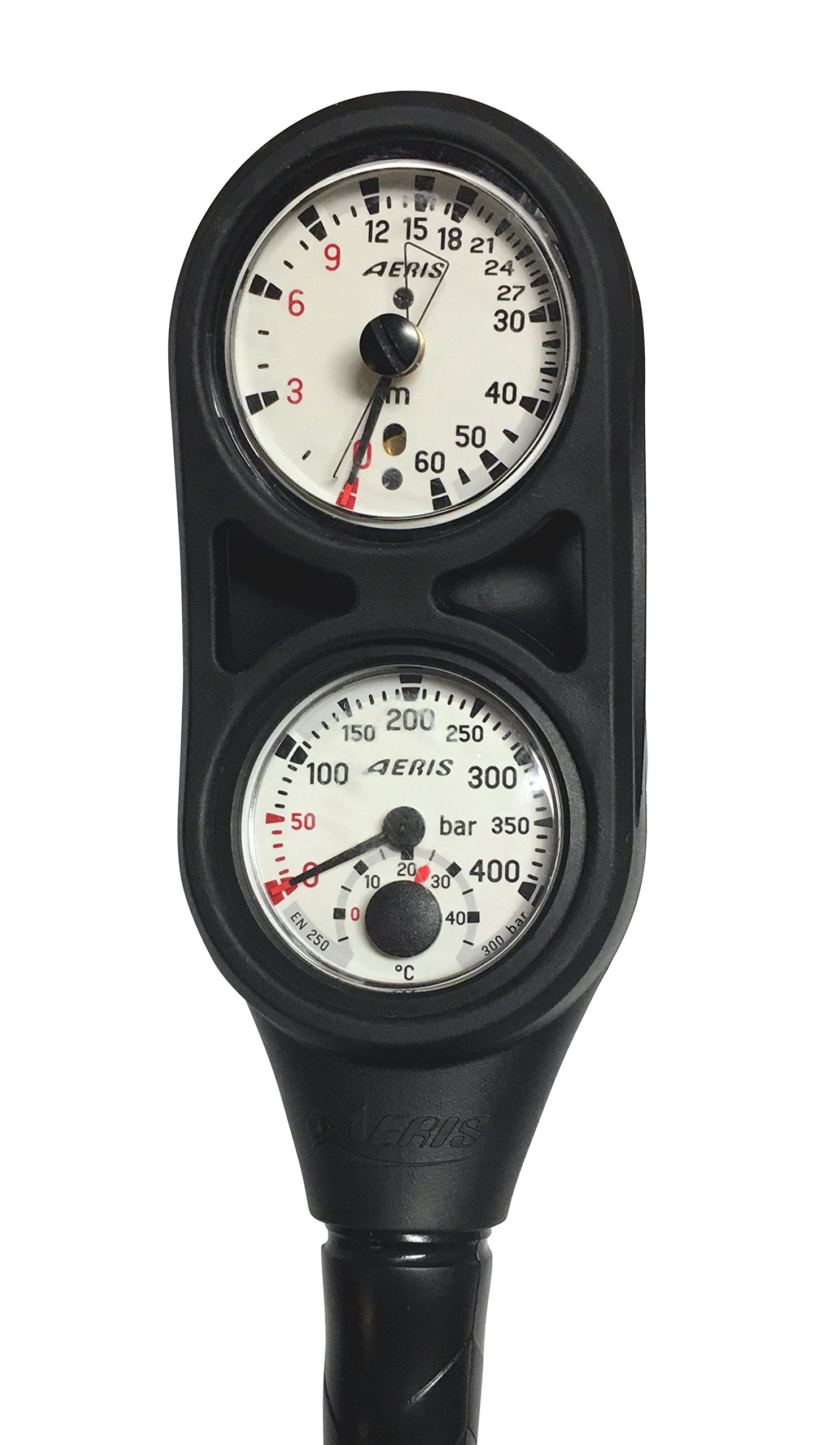 AERIS Metric Depth Gauge and Bar Pressure Gauge Console for Scuba Diving