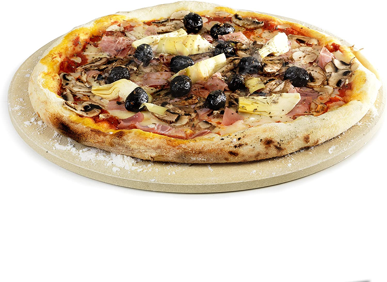 Barbecook Pizzaplaat Placa para Pizza de Arcilla Refractaria, Marrón, 36.5x37.5x4 cm