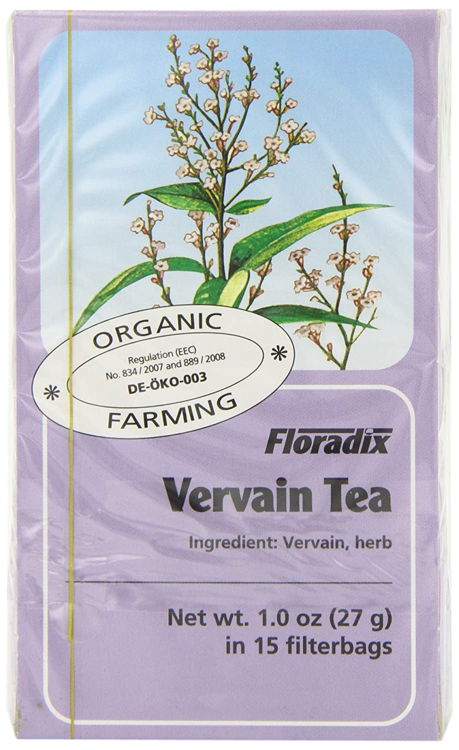 Salus Organic Vervain 15 Teabags (Pack of 6, Total 90 Teabags)