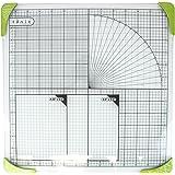 Tonic Studios 350e 12 x 12 mm Glass Cutting Mat, White/ Green