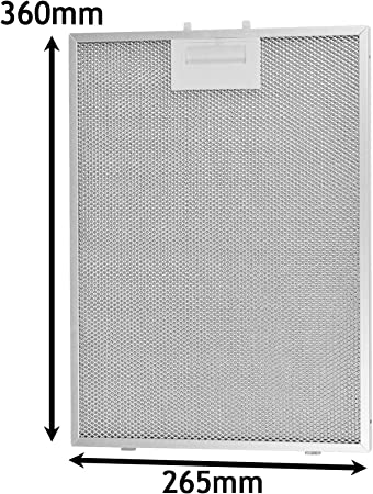 Spares2go Filtro de grasa de malla de metal para campana extractora de ventilación para horno Bosch (360 x 265 mm): Amazon.es: Hogar