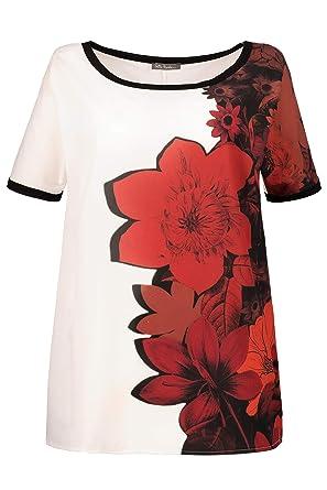 Femme Grandes Ulla Rond Col T Imprimé Popken Shirt Fleuri Tailles uPXwiOTkZ