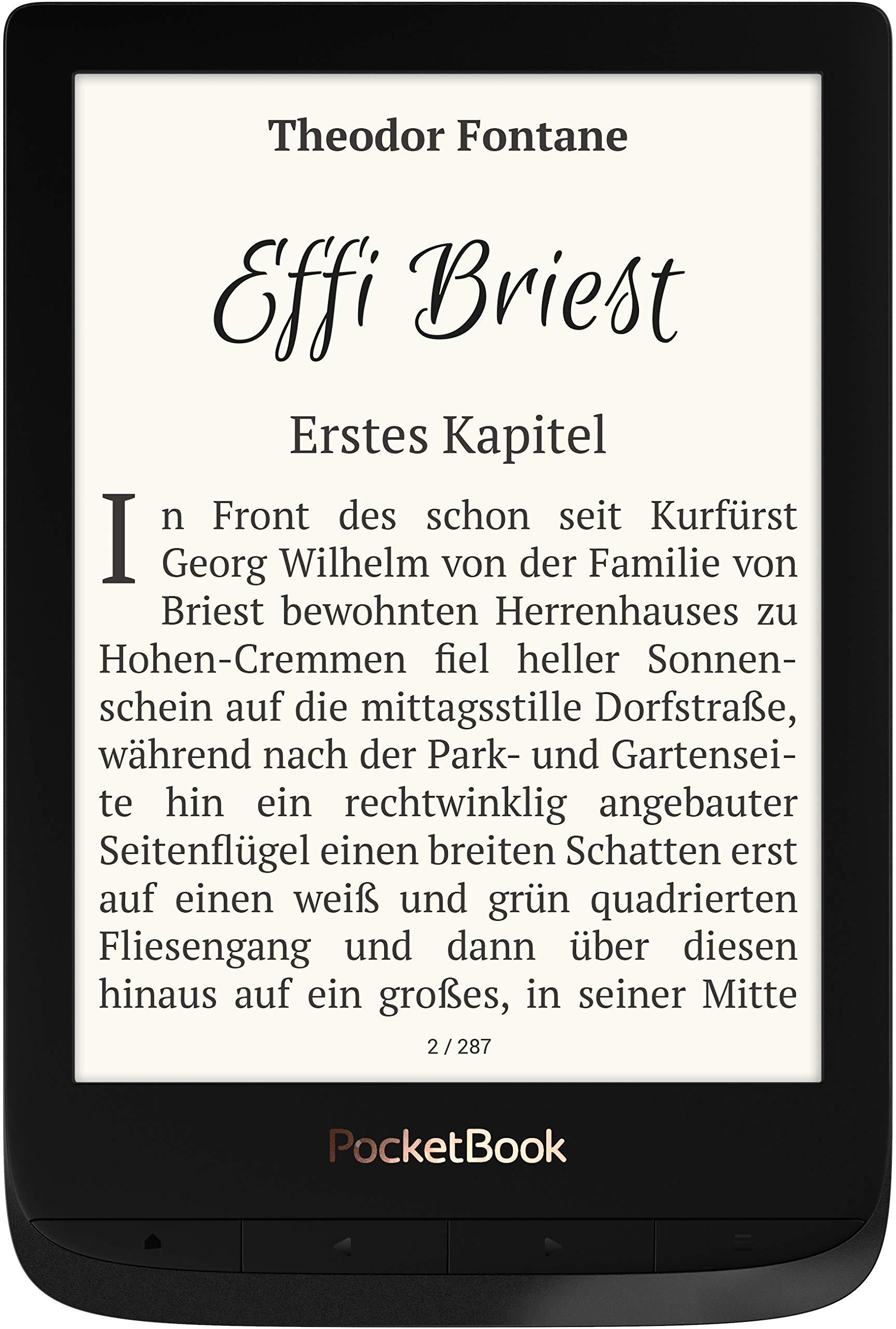 E-Ink Carta Display; SMARTlight; Wi-Fi; Bluetooth 16 GB Memory, 15.24 cm PocketBook e-Book Reader Touch HD 3 in Copper 6 Inch