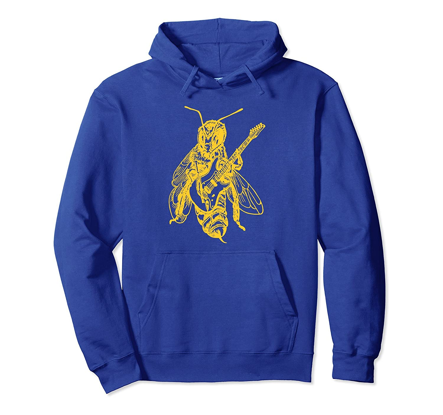 SEEMBO Bee Playing Guitar Pullover Guitaris Hoodie Gift-AZP
