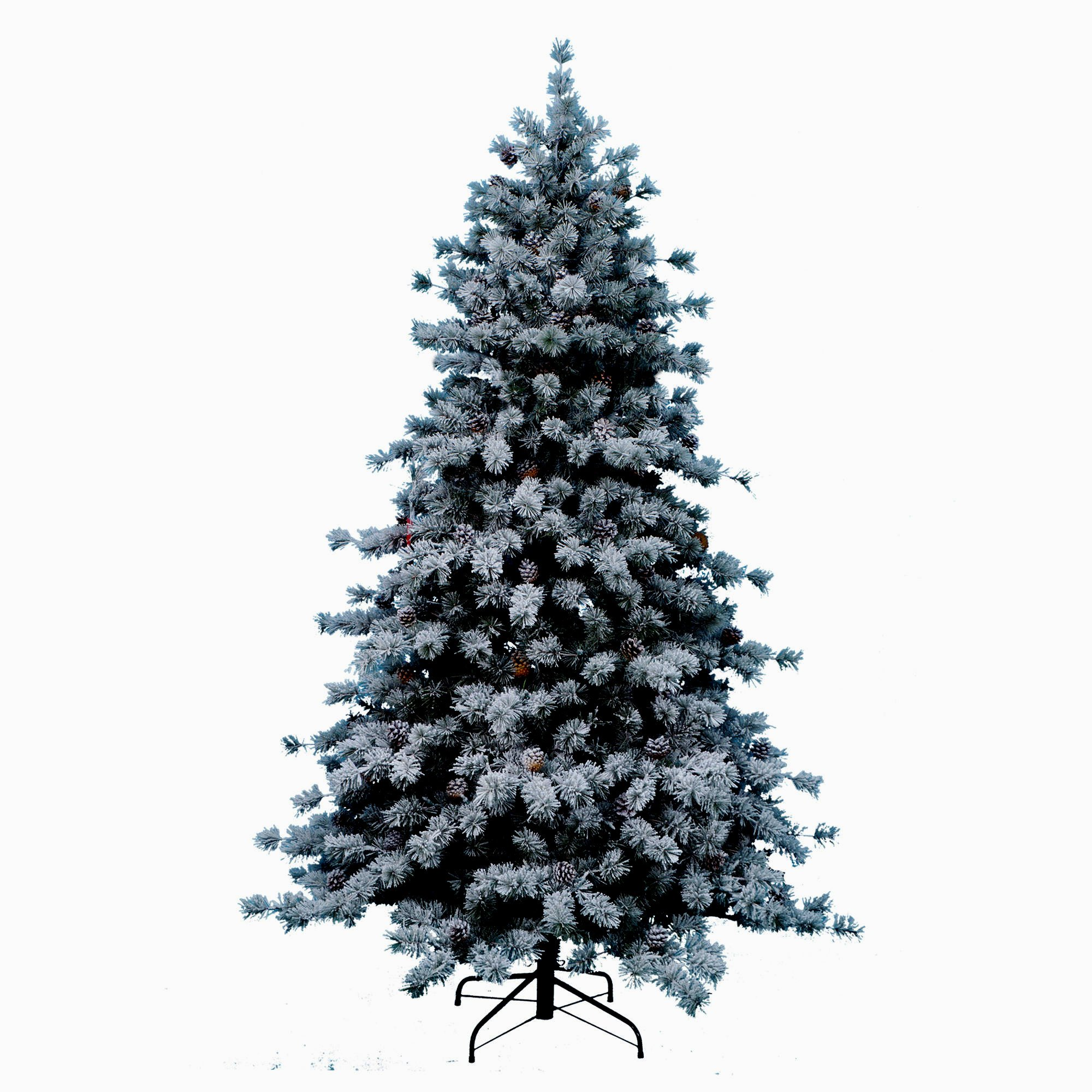Artificial Christmas Tree. Fake 7.5 Foot Xmas Arctic Snow Pine. It's Classic Fir Shape Looks Neat & Natural, Dense, Lush Foliage & Multicolor. Snow-flocked Branches. Holiday Season Party Decor.
