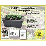 H2OtoGro 04063.75TF DWC Self Watering Hydroponic System No. 04St, 6 Site, 18x13-Inch, Black