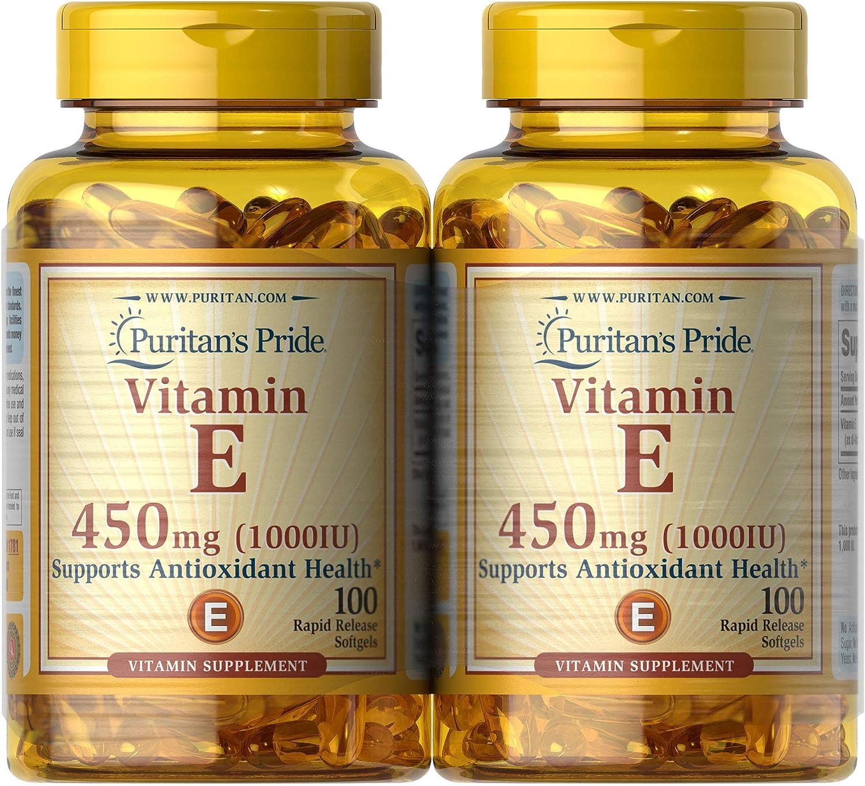 Puritan S Pride Vitamin E 450 Mg Supports Immune Function Health Personal Care