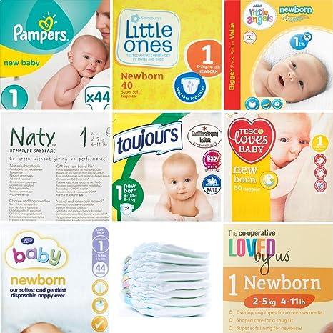 Pack de pañales para recién nacidos 3 x 8 24 Pañales. – Comparar 8 Reino Unido marcas de desechables Pañales.: Amazon.es: Bebé