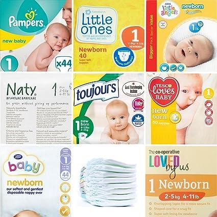 Pack de pañales para recién nacidos 3 x 8 24 Pañales. - Comparar 8 ...