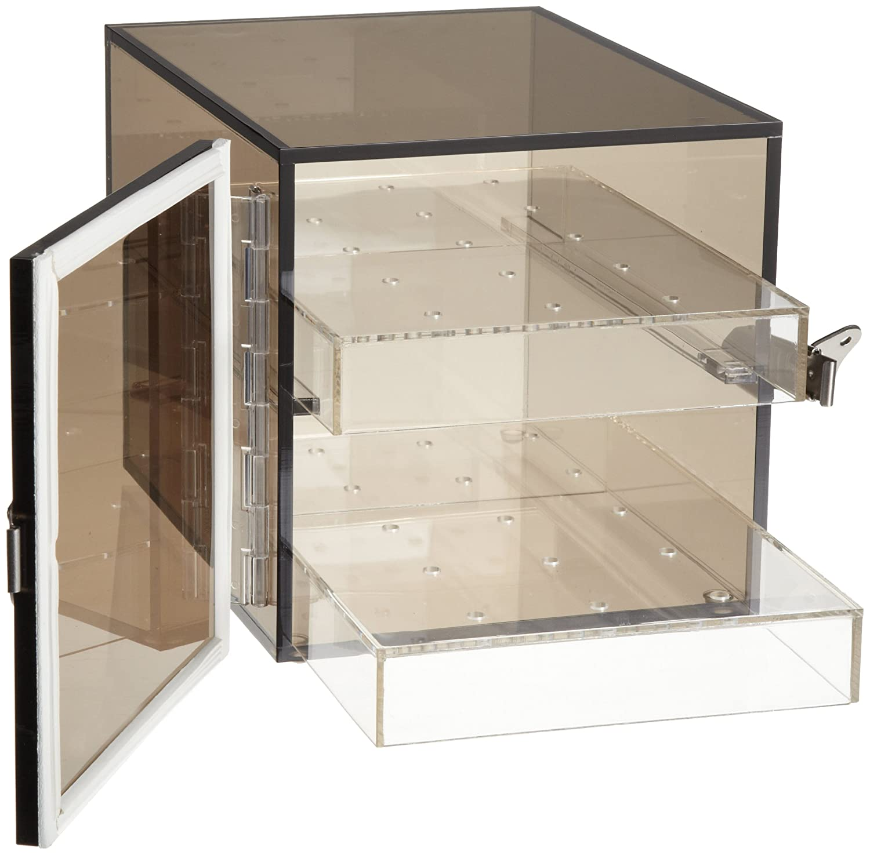 ft. F42064-0001 Bel-Art Bronze Acrylic Desiccator Cabinet; 0.21 cu