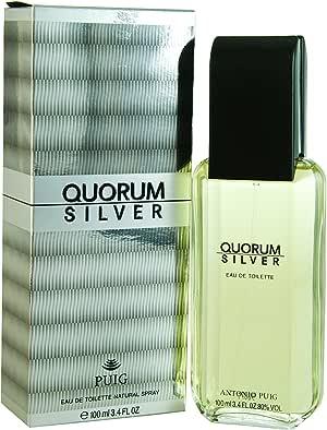 Antonio Puig Quorum Silver Eau De Toilette Spray 3.4 Oz, 100 milliliters (147419)