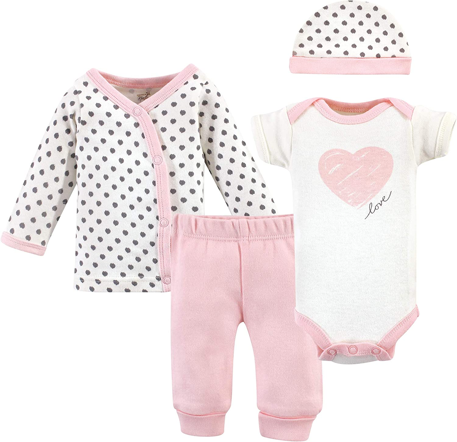 Touched by Nature Unisex Baby Organic Cotton Preemie Layette Set
