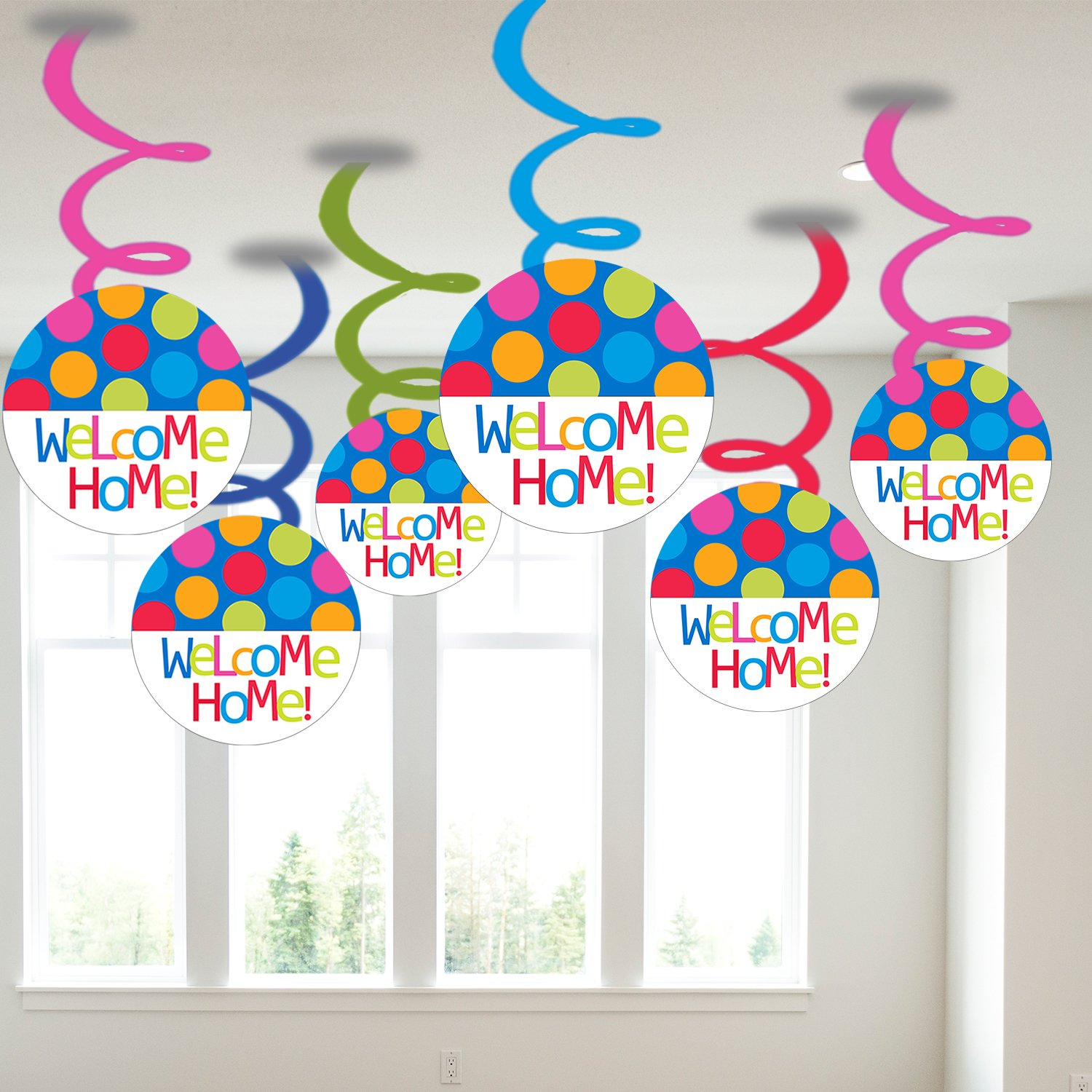 Party Propz Welcome Home Swirls Baby Shower For Girl And Boys Multicolour