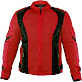 Xelement XS3062 Impulse Womens Black/Red Mesh Tri-Tex Armored Motorcycle Jacket - X-Large