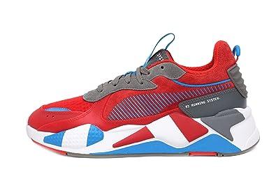 da9007ca6f7 PUMA Men's RS-X Sneaker, High Risk red-Steel Gray-Indigo Bunting
