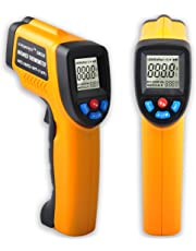 KASUNTEST Digital Infrared IR Thermometer Non-Contact Instant Read Temperature Gun (-50°C to +380°C) Yellow+Black