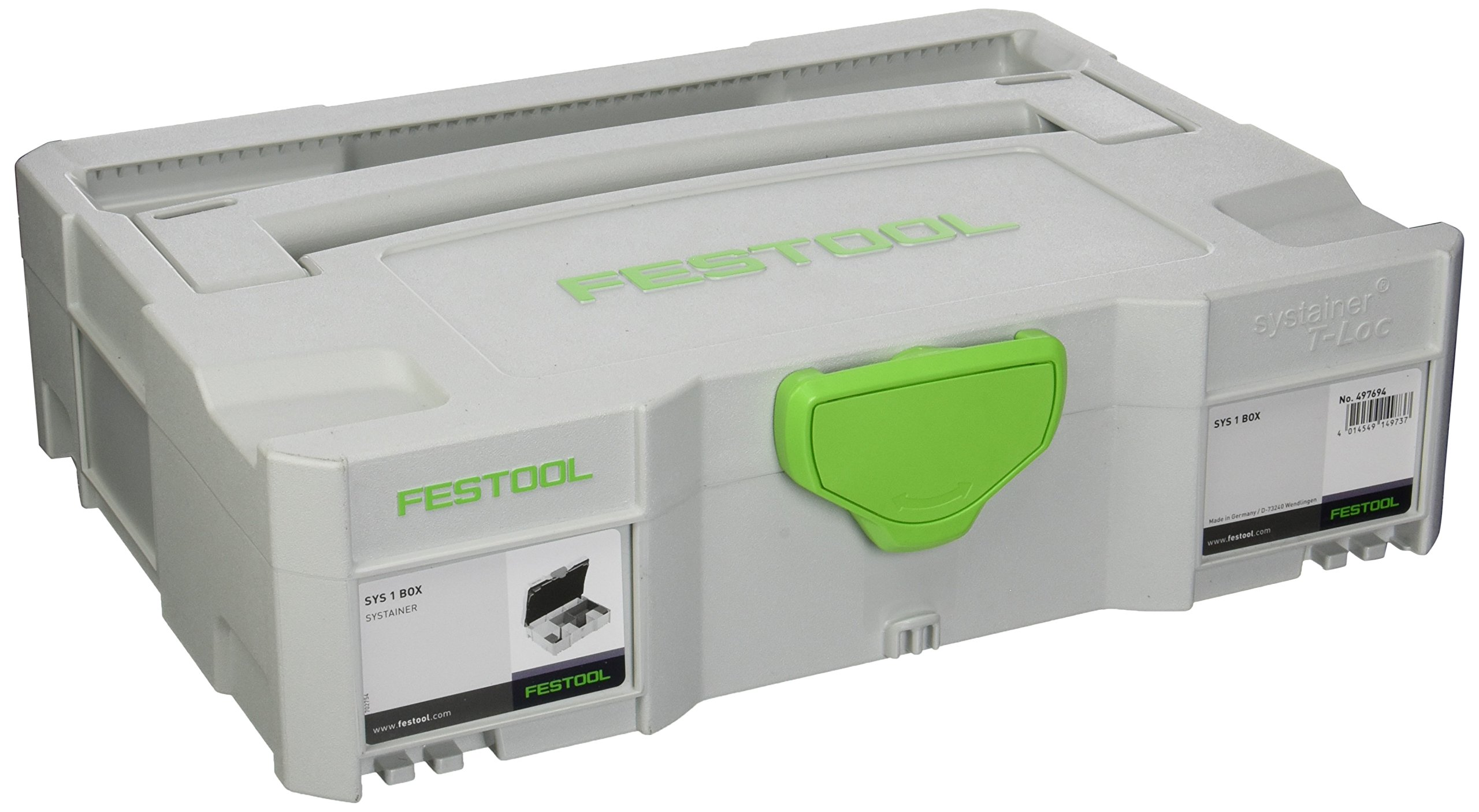 Festool 497694 SYS-1 Box Small Parts Organizer, Systainer 1 by Festool