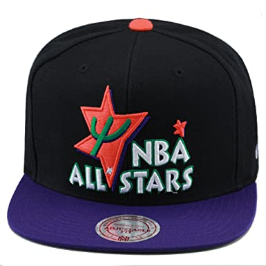 buy online c2549 e18e9 Mitchell   Ness NBA All Star Game Snapback Hat Cap 1995 Phoenix Black Purple