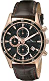Lucien Piccard Men's LP-13489-RG-01-BRW Commodore Analog Display Japanese Quartz Brown Watch